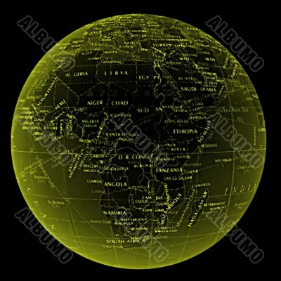 globe world africa