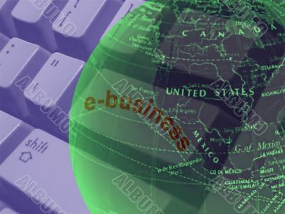 modern internet electronic business concept