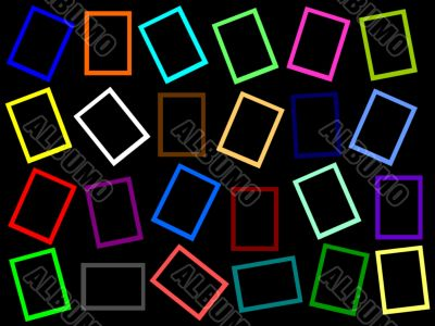 colorful rectangle frames all over