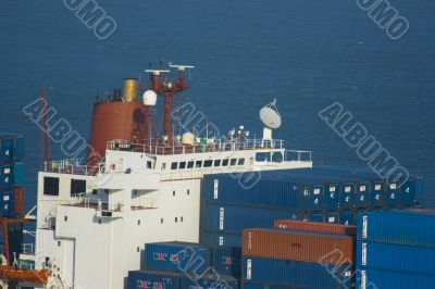 Containership with containers