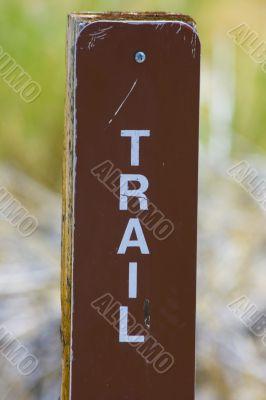 Trail Sign at Mono Lake