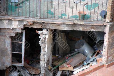 broken buildings