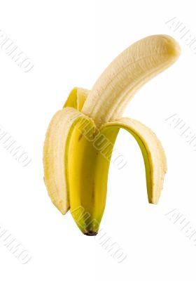 Isolated banana peeled