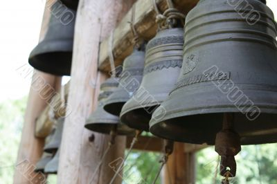 Bells, hanging in a line 3