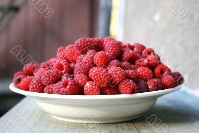 Tasty healthy raspberry