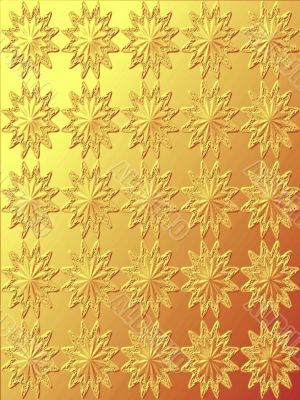 beautiful ornament gold texture star