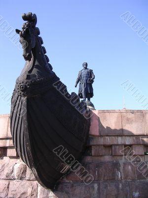 Russia, Tver, a monument Afanasiyu Nikitin