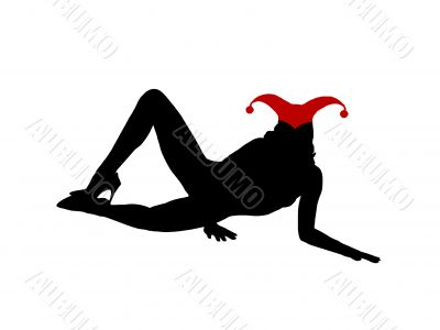 Black sexy laying girl silhouette