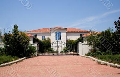 luxury gated mansion