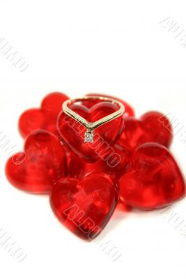 Ring On Glass Hearts