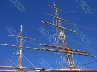 Sailing ship in port