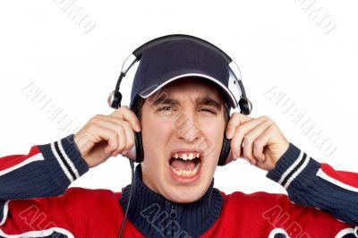 Disc jockey shouting