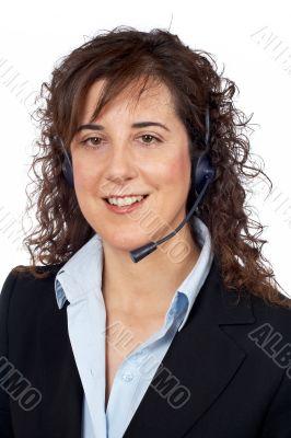 Smiling customer support girl