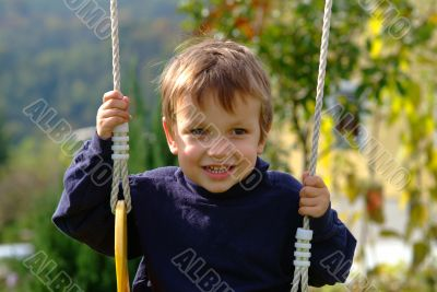 boy on the swing