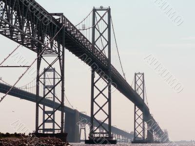 chesapeake bay bridge close up