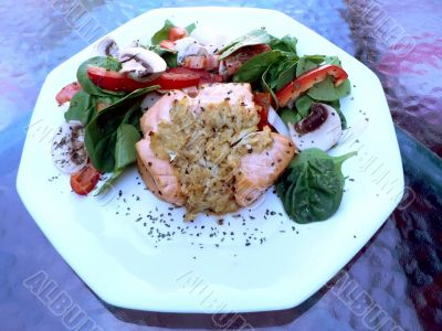 stuffed salmon dinner 3