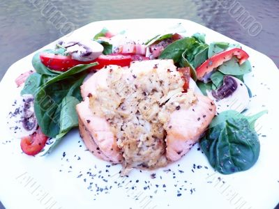 stuffed salmon dinner 2