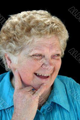 Beaming Senior Lady