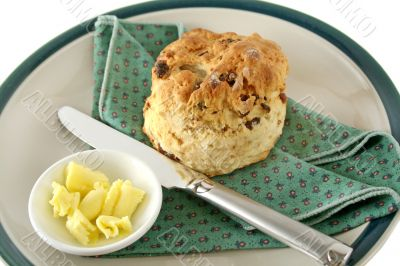 Date Scone With Butter 1