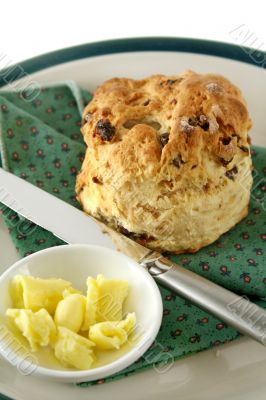 Date Scone With Butter 2