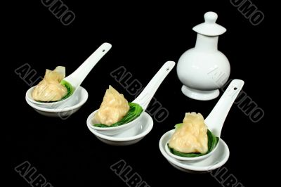 Dim Sums With Soy Sauce