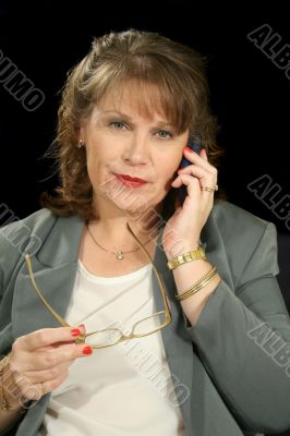 Businesswoman With PDA/Cell Phone