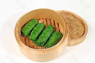 Steamed Asian Cabbage Rolls 1