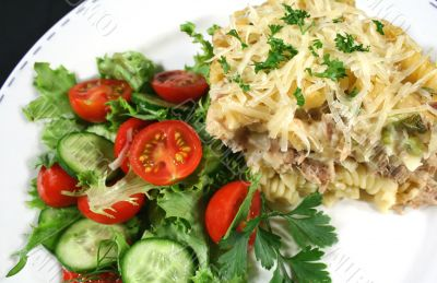 Tuna And Pasta Bake With Salad