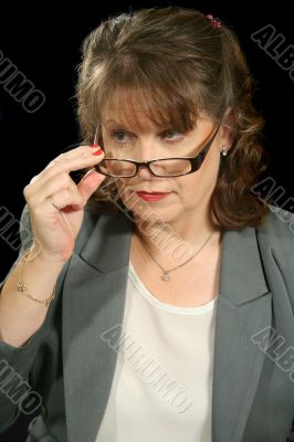 Mature Businesswoman With Glasses