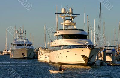 Row Boat VS Superyacht