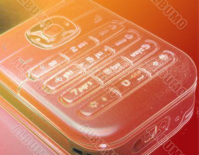 Phone keypad orange