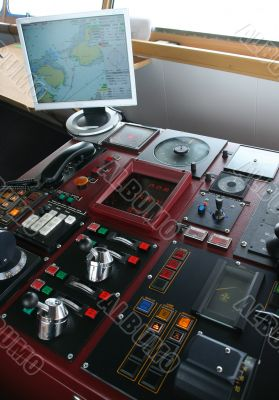 Navigation equipment on bridge