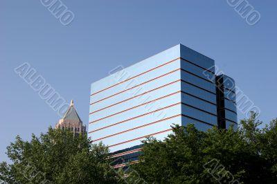 Blue Glass and Skyscraper