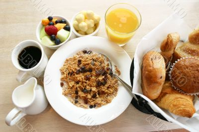 Breakfast Series - Cereal, Breads and Coffee