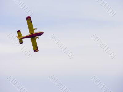 Canadair in flight