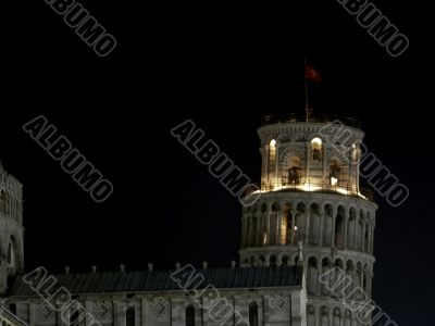 Nightview of the Leaning Tower, Pisa