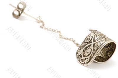 Silver ear ring