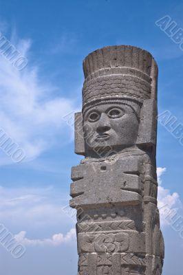 Toltec Warrior statue