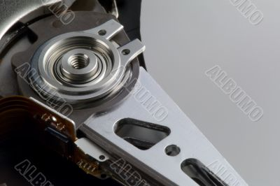 hard drive head detail