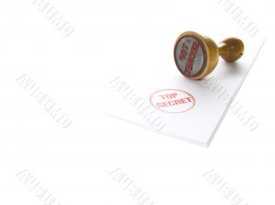 TOP SECRET rubber ink stamp