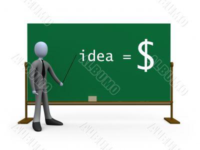 Idea equals money