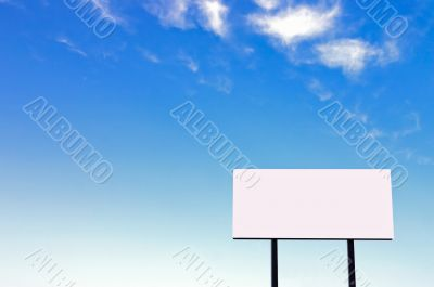 Billboard on a beautiful blue sky -small sign version