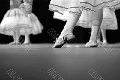 Dance Recital in black and white
