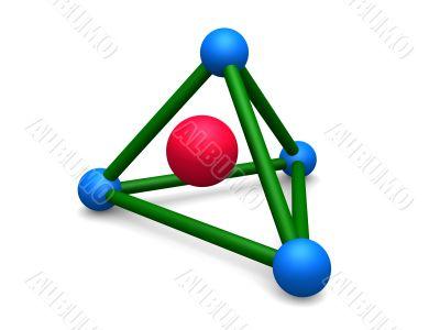 pyramid molecular structure