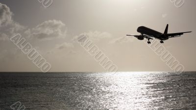 Aeroplane over the sea