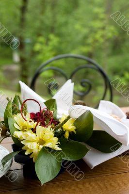 Dinner table in the garden