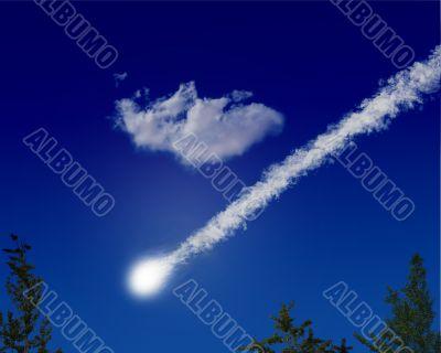 Big Impact - Meteor Comet Firebal