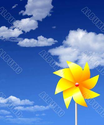 Floral Pinwheel against Summer Sky