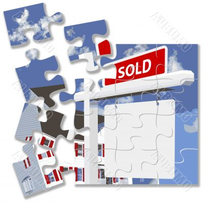 Home SOLD Sign Jigsaw Puzzle