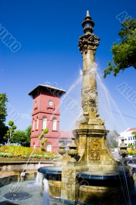 Victorian Fountain and Dutch Clock Tower